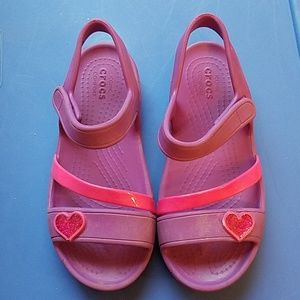 Girls Crocs Sandals Sz C12 12